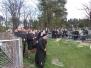 Msza za zmarłych na cmentarzu parafialnym